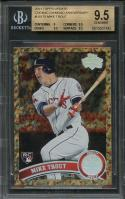 2011 topps update cognac diamond anniversary #us175 MIKE TROUT rookie BGS 9.5