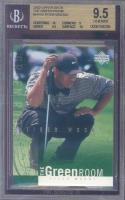 2002 upper deck the green room #gr10 TIGER WOODS golf BGS 10 9.5 9 10