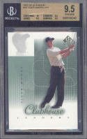 2002 sp authentic #56 TIGER WOODS CHL golf BGS 10 9.5 9.5 9.5