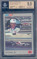 1991 all world indy #s1 AL UNSER JR Q95 kroger promo BGS 9.5