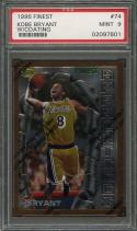 1996-97 finest #74 KOBE BRYANT w/coating los angeles lakers rookie card PSA 9