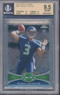 2012 topps chrome #40a RUSSELL WILSON seahawks rookie BGS 9.5 (9.5 9.5 9.5 9.5)
