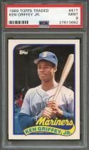 Ken Griffey Jr Rookie Card 1989 Topps Traded #41t Seattle Mariners PSA 9
