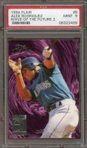 1994 flair wave of the future 2 #8 ALEX RODRIGUEZ seattle mariners rookie PSA 9