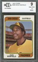 1974 topps #456 DAVE WINFIELD san diego padres rookie card BGS BCCG 9