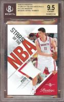2009-10 prestige stars of the nba materials #13 YAO MING rockets jersey BGS 9.5