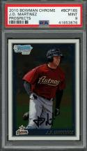 2010 bowman chrome prospects #bcp165 J.D. MARTINEZ red sox rookie card PSA 9