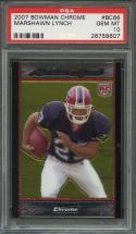 2007 bowman chrome #bc66 MARSHAWN LYNCH seattle seahawks rookie card PSA 10