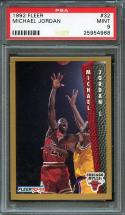 1992-93 fleer #32 MICHAEL JORDAN chicago bulls PSA 9