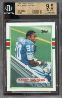 1989 topps traded #83t BARRY SANDERS lions rookie card BGS 9.5 (9 9.5 9.5 9.5)