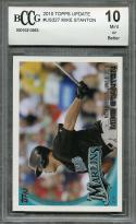 2010 topps update #us327 MIKE STANTON miami marlins rookie card BGS BCCG 10