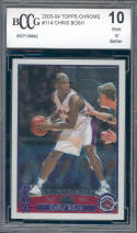 2003-04 topps chrome #114 CHRIS BOSH rookie BGS BCCG 10