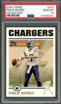 2004 topps collection #375 PHILIP RIVERS san diego chargers rookie card PSA 10
