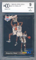 1992-93 upper deck #1 SHAQUILLE O'NEAL SP orlando magic rookie card BGS BCCG 9