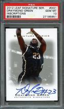2012-13 leaf signature series inscriptions #dg1 DRAYMOND GREEN rookie PSA 10