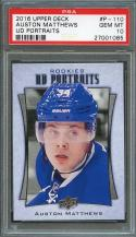 2016-17 upper deck ud portraits #p-110 AUSTON MATTHEWS maple leafs rookie PSA 10