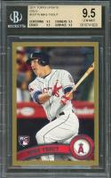 2011 topps update gold #us175 MIKE TROUT rookie card BGS 9.5 (9.5 9.5 9.5 9.5)