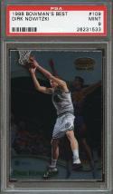 1998-99 bowman's best #109 DIRK NOWITZKI dallas mavericks rookie card PSA 9