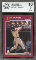 1991 score rookie/traded #96t JEFF BAGWELL astros rookie card BGS BCCG 10