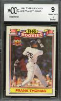 1991 topps rookies #28 FRANK THOMAS chicago white sox BGS BCCG 9