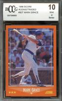 1988 score rookie/traded #80t MARK GRACE chicago cubs rookie card BGS BCCG 10