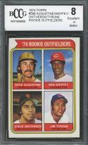 1974 topps #598 AUGUSTINE/ KEN GRIFFEY /ONTIVEROS/TYRONE rookie BGS BCCG 8