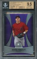 2010 bowman platinum prospects purple ref #5 MIKE TROUT rookie BGS 9.5 9.5 9 9.5