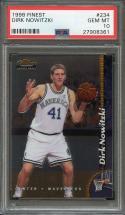 1998-99 finest #234 DIRK NOWITZKI dallas mavericks rookie card PSA 10