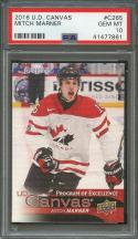 2016-17 u.d. canvas #c265 MITCH MARNER toronto maple leafs rookie card PSA 10