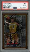 1996-97 finest w/coating #74 KOBE BRYANT los angeles lakers rookie card PSA 9