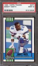 1990 topps traded #27t EMMITT SMITH dallas cowboys rookie card PSA 9