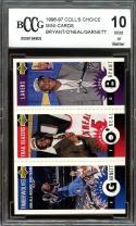 1996-97 coll's choice mini-cards KOBE BYANT /O'NEAL /GARNETT rookie BGS BCCG 10