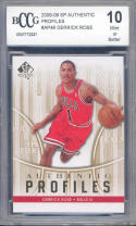 2008-09 sp authentic destination profiles #ap46 DERRICK ROSE rookie BGS BCCG 10