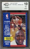 1991-92 fleer #211 MICHAEL JORDAN AS chicago bulls BGS BCCG 10
