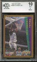 1992-93 fleer #298 SHAQUILLE O'NEAL SD orlando magic rookie card BGS BCG 10