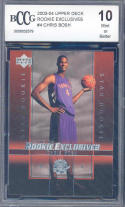2003-04 upper deck rookie exclusives #4 CHRIS BOSH rookie BGS BCCG 10