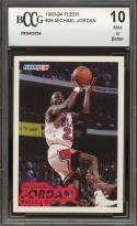 1993-94 fleer #28 MICHAEL JORDAN chicago bulls BGS BCCG 10