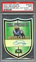 2014 leaf valiant honor guard dc #hgobj ODELL BECKHAM JR autograph rookie PSA 9