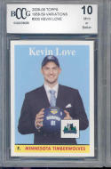 2008-09 topps 1958/59 #200 KEVIN LOVE cleveland cavaliers rookie BGS BCCG 10