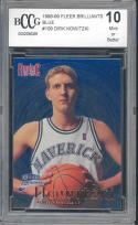 1998-99 fleer brilliants blue #62 DIRK NOWITZKI mavericks rookie BGS BCCG 10