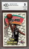 1997-98 hoops #166 TIM DUNCAN san antonio spurs rookie card BGS BCCG 9