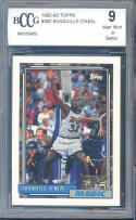 1992-93 topps #362 SHAQUILLE O'NEAL orlando magic rookie card BGS BCCG 9