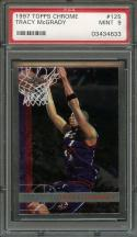 1997-98 topps chrome #125 TRACY MCGRADY orlando magic rookie card PSA 9