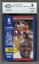 1991-92 fleer #211 MICHAEL JORDAN AS chicago bulls BGS BCCG 9
