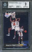 1992-93 upper deck #1b SHAQUILLE O'NEAL trade magic rookie BGS 9 (9 9 9 9.5)