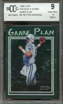 1998 leaf rookies & stars game plan #2 PEYTON MANNING colts rookie BGS BCCG 9