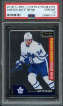 2016-17 o-pee-chee platinum #151 AUSTON MATTHEWS maple leafs rookie card PSA 10