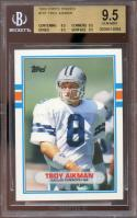 1989 topps traded #70t TROY AIKMAN cowboys rookie card BGS 9.5 (9.5 9.5 9.5 9.5)