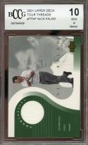 2001 upper deck tour threads #ttnf NICK FALDO golf BGS BCCG 10