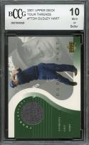 2001 upper deck tour threads #ttdh DUDLEY HART rookie BGS BCCG 10